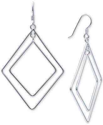 Giani Bernini Double Geometric Drop Earrings in Sterling Silver
