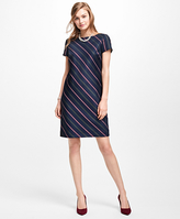Brooks Brothers Striped Wool Shift Dress