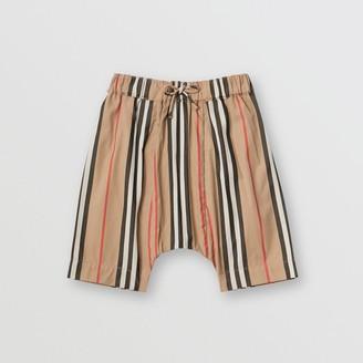 Burberry Icon Stripe Cotton Poplin Trousers