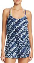 Dolce Vita Lattice Back Romper Swim Cover Up