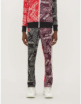 Palm Angels Bandana-print jersey jogging bottoms