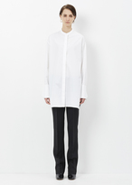 Ports 1961 optic white draped panel shirt 2