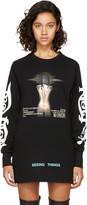 Off-White Black Long Sleeve 'Woman' Movie T-Shirt