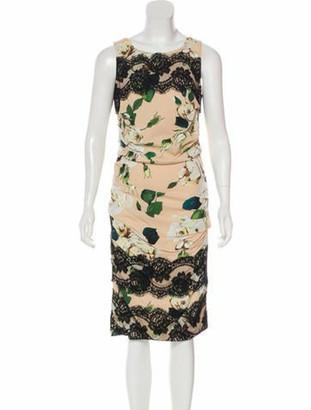 Dolce & Gabbana Floral Print Midi Dress multicolor