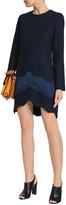 Thumbnail for your product : Carven Satin-paneled Crepe Mini Dress