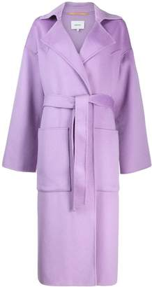 Nanushka oversized robe coat