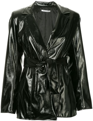 Georgia Alice Belted Faux-Leather Jacket