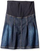 JoJo Maman Bebe Women's Maternity Pleated Denim Skirt