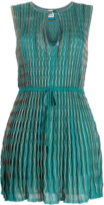 M Missoni Fine-Knit Lurex Drawstring Dress
