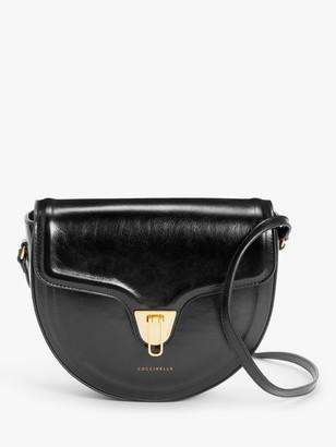 Coccinelle Beat Azalea Leather Side Bag, Black