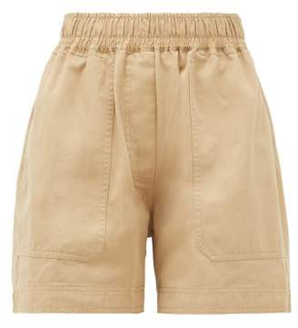 Lee Mathews - Workroom Patch Pocket Organic Cotton Shorts - Womens - Camel