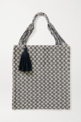 Nannacay Bianca Tasseled Crocheted Cotton-blend Tote - Navy