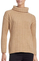 Lord & Taylor Petite Ribbed Turtleneck Sweater