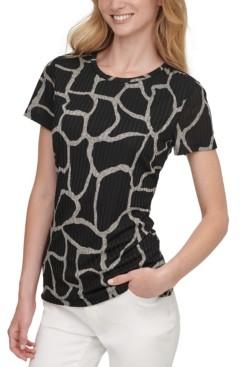 DKNY Printed Crewneck T-Shirt