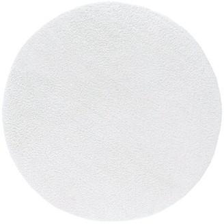 Ebern Designs Ingulf Shag White Rug Rug Size: Round 5'3''