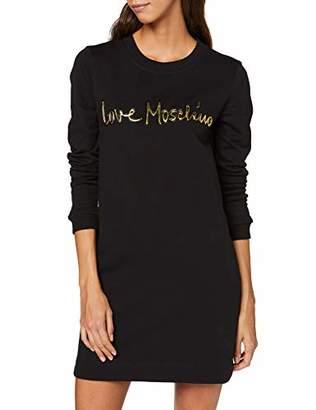 Love Moschino Women's Long Sleeve Dress_Italic Shiny Logo,(Size: 40)