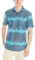 Buffalo David Bitton Men's Silky Short Sleeve Cotton Ikat Shirt