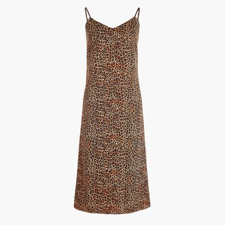 J.Crew Leopard V-neck slip dress