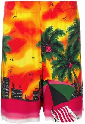 MSGM Holiday-Print Swimming Shorts