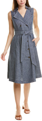 Maggy London Denim Linen-Blend Shirtdress