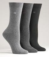 Calvin Klein Flat Ribbed Knit Socks 3-pack