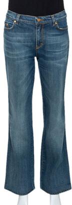 Roberto Cavalli Blue Medium Wash Denim Straight Leg Jeans L
