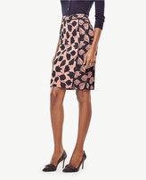 Ann Taylor Petite Tulip Jacquard Pencil Skirt