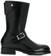 Paul Smith buckle detail boots