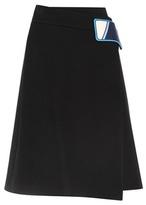 Prada Cotton-blend wrap skirt