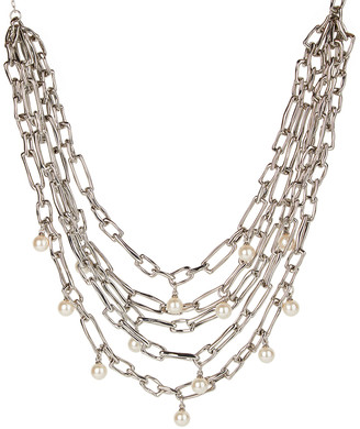 Alexis Bittar Pearly Studded Multi-Chain Necklace