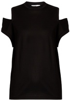 Toga Cut-out shoulder cotton-jersey T-shirt