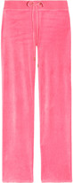 Juicy Couture Neon velour track pants