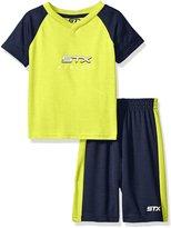 STX Big Boys' 2 Piece Performance Athletic T-Shirt and Short Set