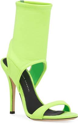 Giuseppe Zanotti Neon Stretch Nylon Cuff Sandals