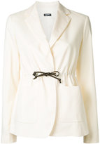 Jil Sander Navy tied blazer - women - Cotton/Spandex/Elastane - 36