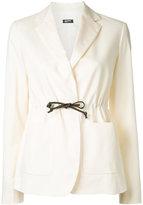 Jil Sander Navy tied blazer - women - Cotton/Spandex/Elastane - 38