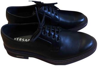 Versace Black Leather Lace ups