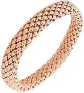 EDFORCE Stainless Steel Rose Gold-Tone Mesh Narrow Stretch Bracelet