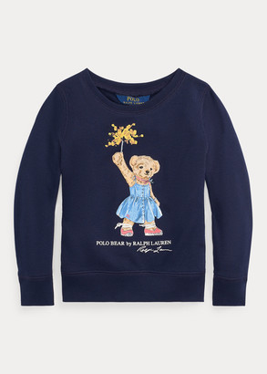 Ralph Lauren Sparkler Bear Terry Sweatshirt
