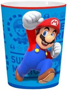 Super Mario Bros. Super Mario Kids Waste Basket, Bathroom or Bedroom, 1.6 Gallon