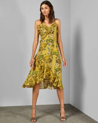 Ted Baker Royal Palm Frill Dress