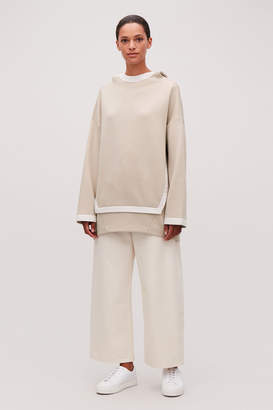 Cos COCOON-SHAPE HOODED SWEATER