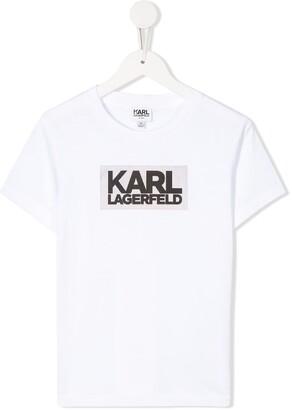 Karl Lagerfeld Paris printed crew neck T-shirt