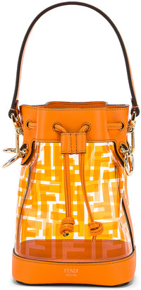 Fendi Mini Mon Tresor Logo Crossbody Bag in Orange | FWRD