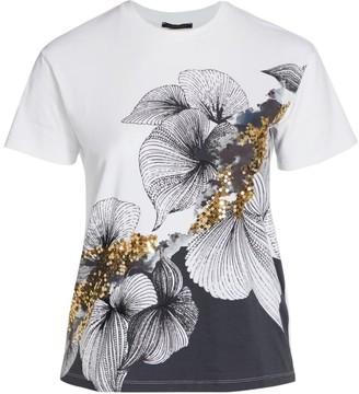 Marina Rinaldi, Plus Size Vaniglia Flower-Print Embellished T-Shirt