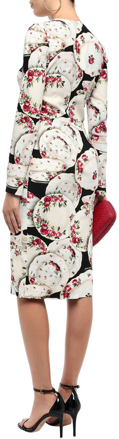 Thumbnail for your product : Dolce & Gabbana Printed Crepe Dress