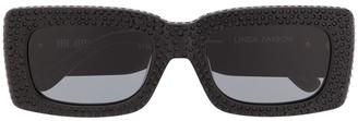 Linda Farrow x The Attico Stella square-frame sunglasses