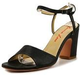 Emma Lou Roky Women Open-toe Leather Black Slingback Heel.