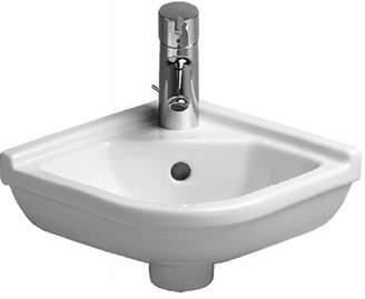 """Philippe Starck Duravit 3 Ceramic 17"""" Corner Bathroom Sink with Overflow Duravit"""