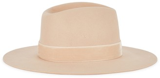 LACK OF COLOR Benson Tri sand wool felt fedora